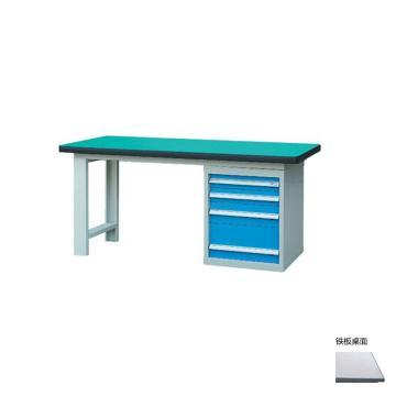 锐德 50mm铁板桌面单侧4抽柜重型工作桌, 2100W*750D*800H 载重:1000kg,不含安装费,安装费请另询