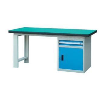 锐德 50mm复合桌面单侧1抽1门柜重型工作桌, 2100W*750D*800H 载重:1000kg
