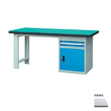 锐德 50mm铁板桌面单侧1抽1门柜重型工作桌, 2100W*750D*800H 载重:1000kg