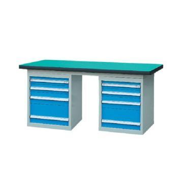 锐德 50mm复合桌面双侧4抽柜重型工作桌, 1800W*750D*800H 载重:1000kg