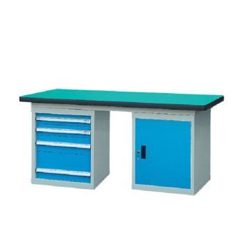 锐德 50mm复合桌面双侧4抽1门柜重型工作桌, 1800W*750D*800H 载重:1000kg,不含安装费,安装费请另询