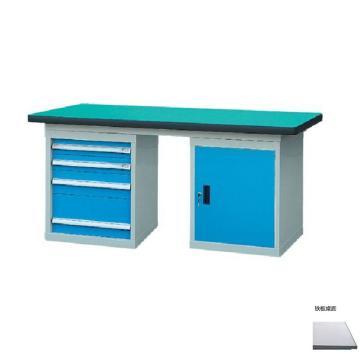 锐德 50mm铁板桌面双侧4抽1门柜重型工作桌, 2100W*750D*800H 载重:1000kg,不含安装费,安装费请另询