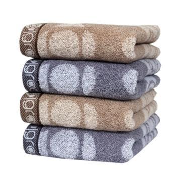 洁丽雅纯棉强吸水舒适面巾 76*34cm 110g 2条装