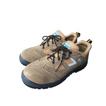 EHS 低帮运动款安全鞋,ESS1622-39(售完即止),防砸防刺穿防静电 土黄色