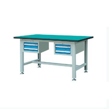 锐德 30mm复合桌面含双吊柜轻型工作桌,2100W*750D*800H 载重:300kg,RDL2103AZ 不含安装费