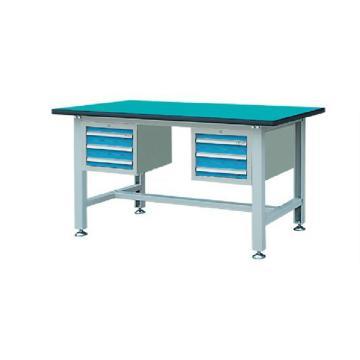 锐德 30mm复合桌面含双吊柜轻型工作桌,1500W*750D*800H 载重:300kg,RDL1503BZ 不含安装费