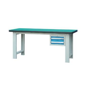 锐德 50mm复合桌面单吊2抽柜重型工作桌,1500W*750D*800H 载重:1000kg,RD1502AZ 不含安装费