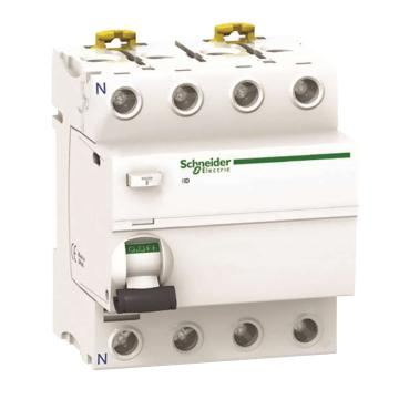 施耐德 微型漏电保护开关,Acti9 iID 4P 100A 300mA AC,A9R82491