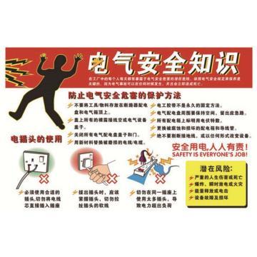 电气安全知识,ABS工程塑料,75cm×50cm