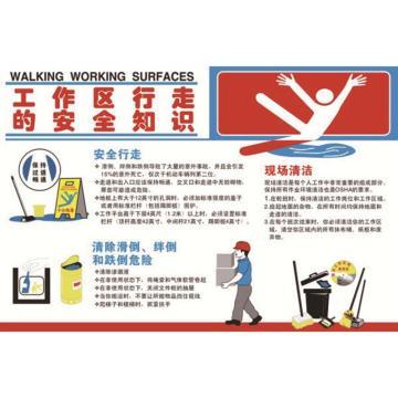 工作区行走的安全知识,ABS工程塑料,75cm×50cm