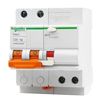 施耐德Schneider Easy9微型漏电保护断路器 2P C16A/30mA/AC类 ,EA9RN2C1630C