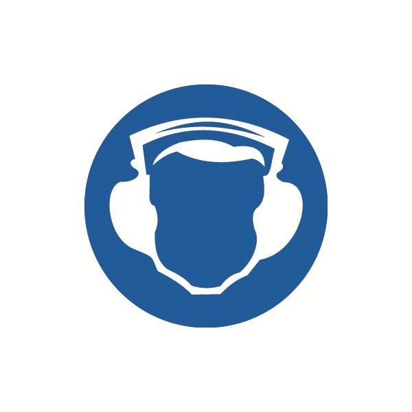 安赛瑞 GB安全警示标签-必须戴护耳器,Ф100mm,32833,10片/包