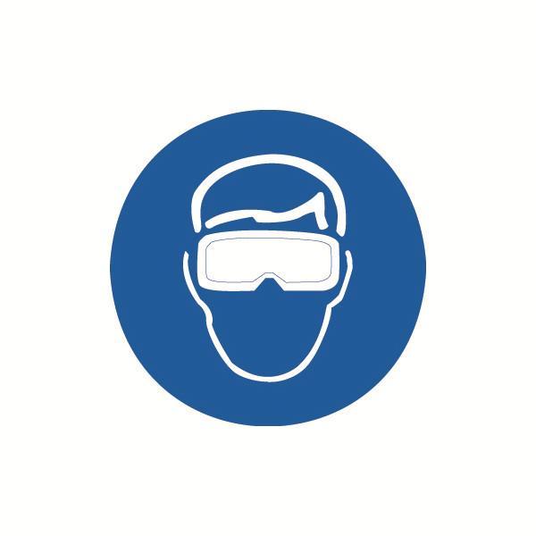 安赛瑞 GB安全警示标签-必须佩戴遮光护目镜,Ф100mm,32835,10片/包