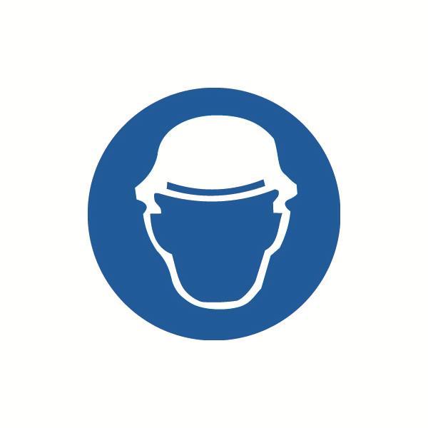 安赛瑞 GB安全警示标签-必须戴安全帽,Ф100mm,32832,10片/包