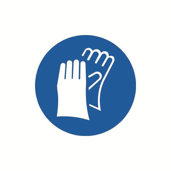 安赛瑞 GB安全警示标签-必须戴防护手套,Ф100mm,32841,10片/包