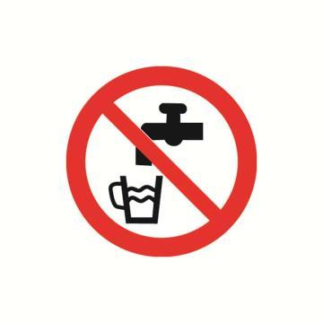 安赛瑞 GB安全警示标签-禁止饮用,Ф100mm,32808,10片/包