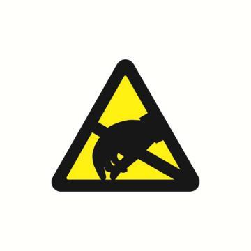 安赛瑞 警示标签-当心静电,边长100mm,32820,10片/包