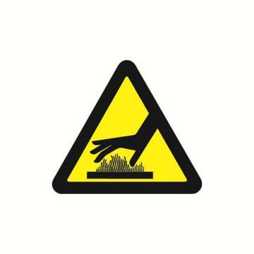 安赛瑞 警示标签-当心烫伤,边长100mm,32818,10片/包