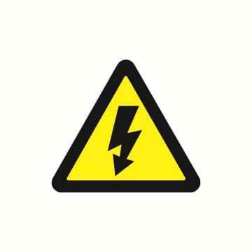 安赛瑞 警示标签-当心触电,边长100mm,32811,10片/包