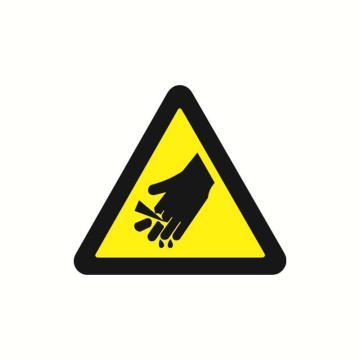 安赛瑞 警示标签-当心伤手,边长100mm,32814,10片/包