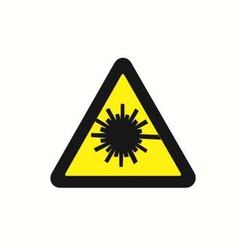 安赛瑞 警示标签-当心激光,边长100mm,32827,10片/包