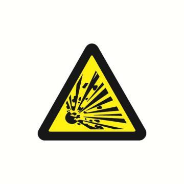 安赛瑞 警示标签-当心爆炸,边长100mm,32826,10片/包