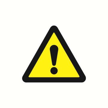安赛瑞 警示标签-注意安全,边长100mm,32810,10片/包