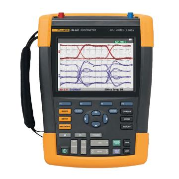 福禄克/FLUKE 彩色数字示波器,200MHz,2通道 DMM/外部输入,随附SCC-290套件,FLUKE-190-202/S