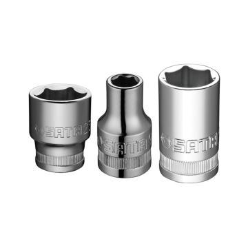 世达六角套筒,12.5mm系列17mm公制,13308
