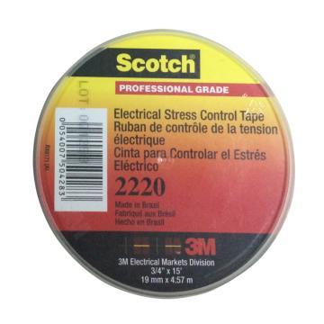 3M 电工胶带,Scotch 2220电应力控制带 19mm×4.5m