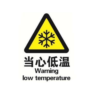 贝迪BRADY GB安全标识,当心低温,PP材质,250×315mm
