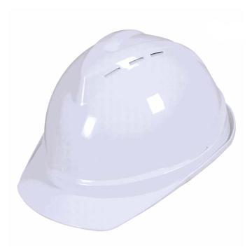 安全帽,V型带透气孔ABS安全帽,白色