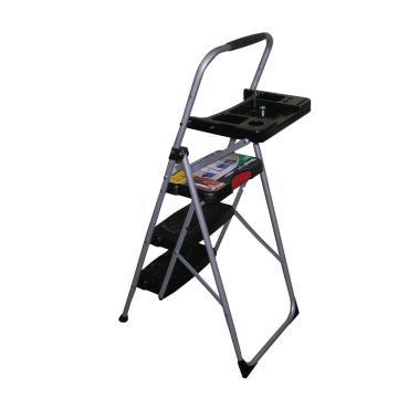稳耐 铁制宽踏板家用梯(梯长1.3米),踏板数:3 额定载荷(KG):102 工作高度(米):0.71,223T-6CN