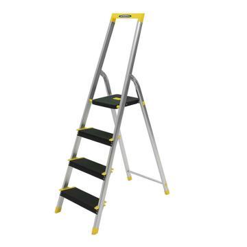 稳耐 铝合金宽踏板家用梯,踏台数:4,额定载荷(KG):100,工作高度(米):0.83,P234-5CN