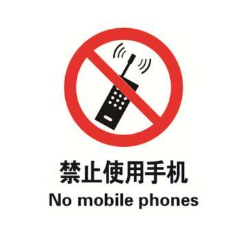 贝迪BRADY GB安全标识,禁止使用手机,乙烯不干胶,250×315mm
