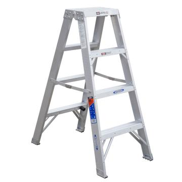 稳耐 双侧人字梯,踏台数:4,额定载荷(KG):136,工作高度(米):0.6,T374CN