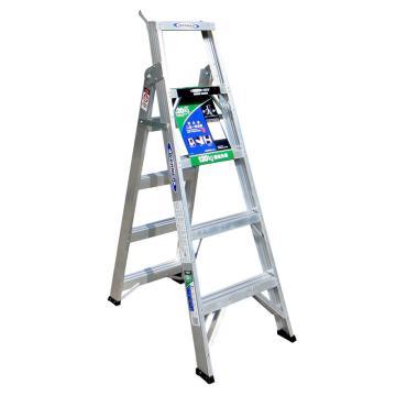 稳耐 铝合金两用梯,踏台数:5,额定载荷(KG):120,工作高度(米):0.9,DP365CN