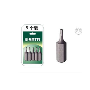 世达5件套8MM系列30mm长中孔花型旋具头TT20,59453
