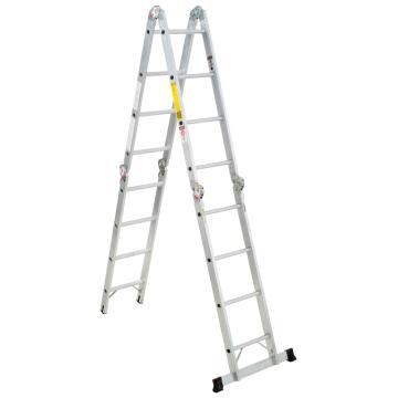 稳耐 折叠式多功能梯,踏台数:8,额定载荷(KG):136,工作高度(米):1.9,M1A-8-16B