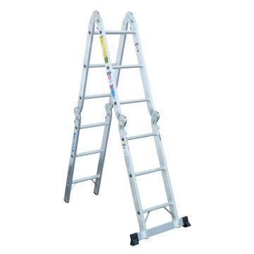 稳耐 折叠式多功能梯,踏台数:6,额定载荷(KG):136,工作高度(米):1.2,M1A-6-12B