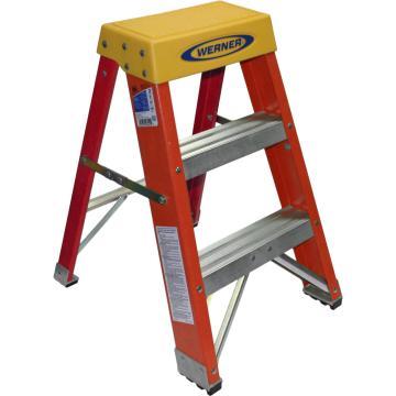 稳耐 玻璃钢梯凳,踏板数:3,额定载荷(KG):136,工作高度(米):0.61,6202