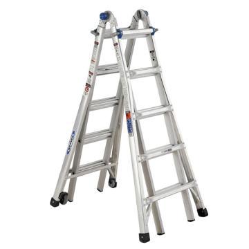 稳耐 伸缩式多功能梯(带脚轮),踏台数:10,额定载荷(KG):136,工作高度(米):0.9~2.2,MTC-22CN
