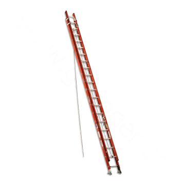 稳耐 D型踏棍绝缘2节延伸梯 踏台数:40 额定载荷(KG):136 工作高度(米):9.8 耐压(KV):35,D6240-2