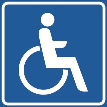 安赛瑞 交通标识-残疾人通道,铝板覆反光贴膜,背后带铝槽,600×600mm,11053