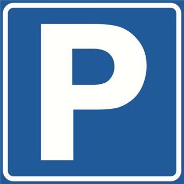 安赛瑞 交通标识-停车位,铝板覆反光贴膜,背后带铝槽,600×600mm,11052