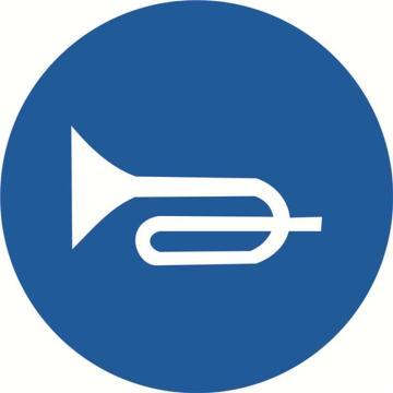 安赛瑞 交通标识-鸣喇叭,铝板覆反光贴膜,背后带铝槽,Ф600mm,11049