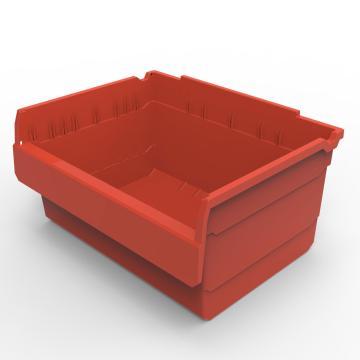 力王 货架物料盒,300*400*200mm,全新料,5个/箱,不含分隔片,SF3420-红色