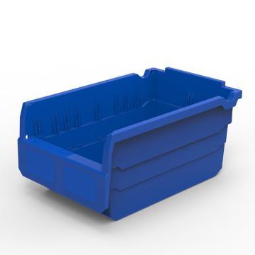 力王 货架物料盒,300*200*150mm,全新料,10个/箱,不含分隔片,SF3215-蓝色