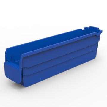 力王 货架物料盒,500*100*150mm,全新料,20个/箱,不含分隔片,SF5115-蓝色