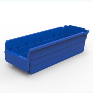 力王 货架物料盒,500*200*150mm,全新料,10个/箱,不含分隔片,SF5215-蓝色